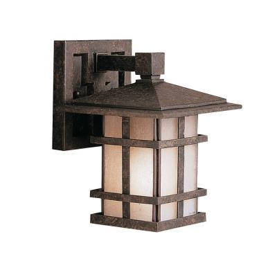 Kichler Lighting 9128AGZ Cross Creek - One Light Outdoor Wall Bracket