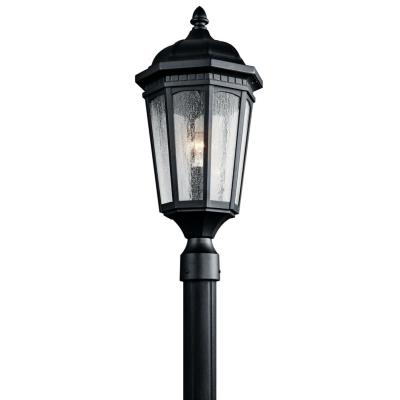 Kichler Lighting 9532BKT Courtyard - One Light Post