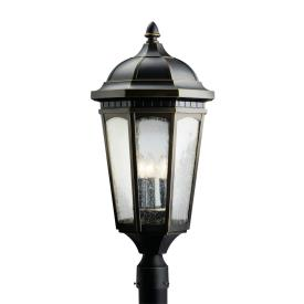 Kichler Lighting 9533RZ Courtyard - Three Light Outdoor Post Mount