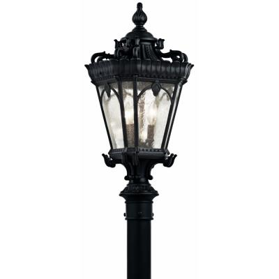 Kichler Lighting 9558BKT Tournai - Three Light Post