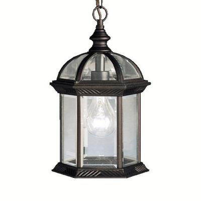 Kichler Lighting 9835BK New Street - One Light Outdoor Pendant