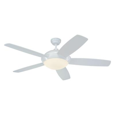 "Monte Carlo Fans 5SLR52WHD-B Sleek -52"" Ceiling Fan"