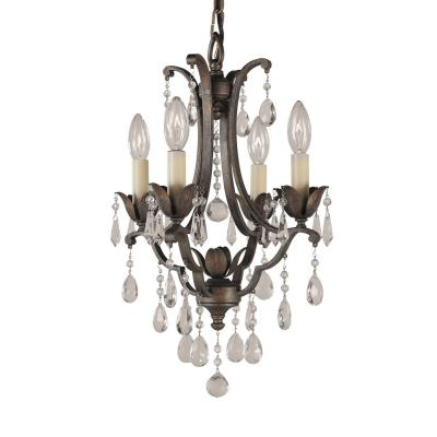 Feiss F1881/4BRB 4 Lt Mini Duo Chandelier