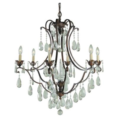 Feiss F1883/6BRB 6 Light Chandelier
