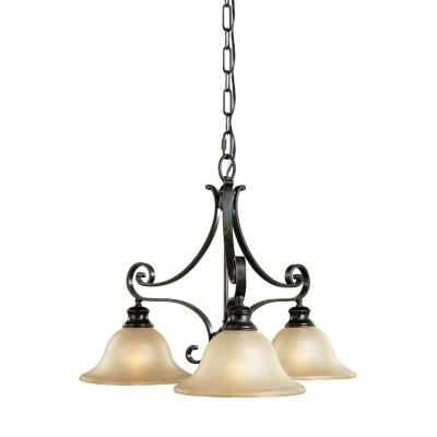 Feiss F1928/3LBR 3 Light Kitchen Fixture