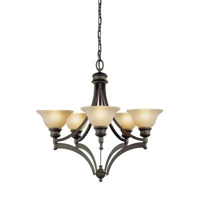 Feiss F1942/5ORB 5 Light Chandelier