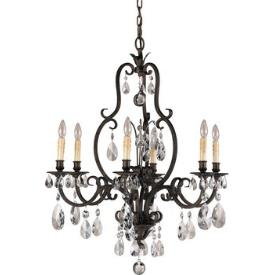 Feiss F2228/6ATS Salon Ma Maison Collection Chandelier