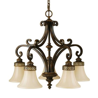 Feiss F2397/5WAL 5 Light Chandelier