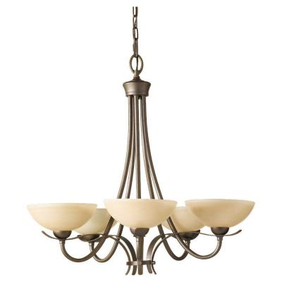 Feiss F2423/5CB 5 Light Chandelier
