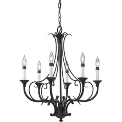 Feiss F2533/6BK Peyton - Six Light Chandelier