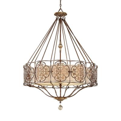 Feiss F2603/4BRB/OBZ Marcella - Four Light Chandelier