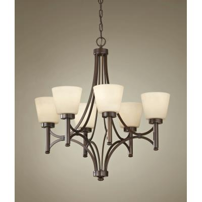 Feiss F2670/6HTBZ Nolan - Six Light Chandelier