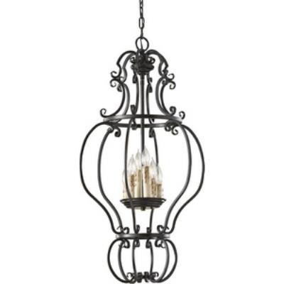 Feiss F2714/6LBR Barnaby - Six Light Chandelier