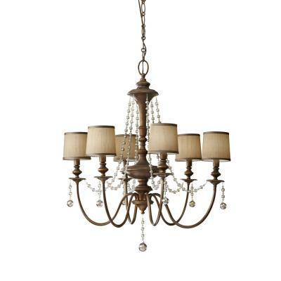 Feiss F2722/6FG Clarissa - Six Light Chandelier