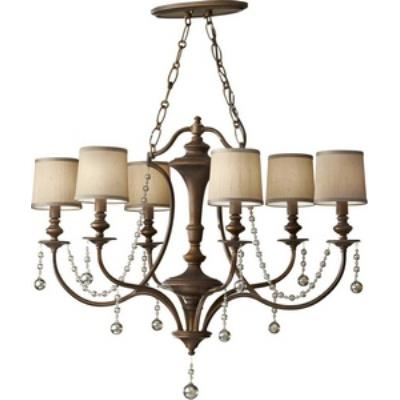 Feiss F2726/6FG Clarissa - Six Light Chandelier