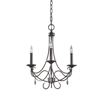Feiss F2747/3RI Aliya - Three Light Chandelier