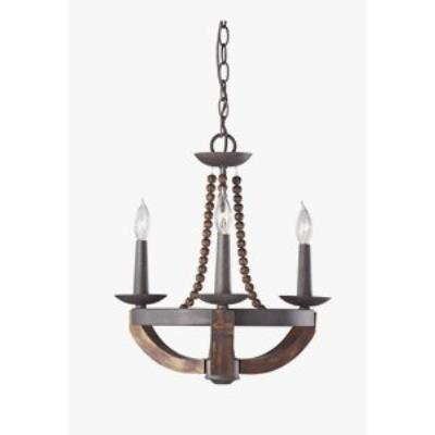 Feiss F2750/3RI/BWD Adan - Three Light Chandelier