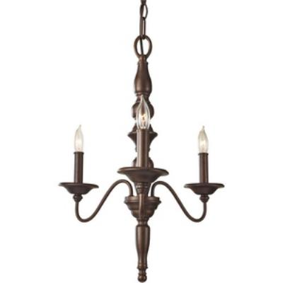 Feiss F2787/3PRBZ Yorktown Heights - Three Light Mini Chandelier
