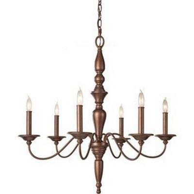 Feiss F2789/6PRBZ Yorktown Heights - Six Light Chandelier