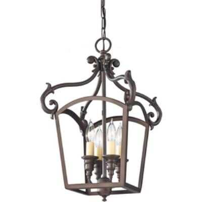 Feiss F2801/4ORB Luminary - Four Light Hall Chandelier