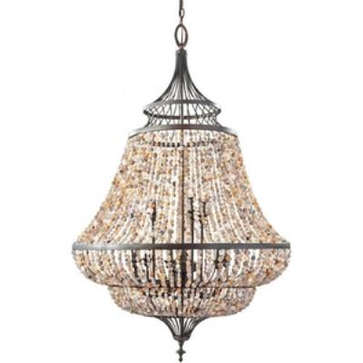 Feiss F2809/9RI Maarid - Nine Light Two-Tier Chandelier