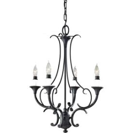 Feiss F2820/4BK Peyton Saltspray - Four Light Mini Chandelier