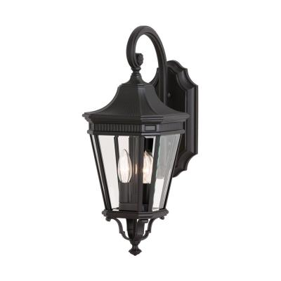 Feiss OL5401BK Cotswold Lane - Two Light Outdoor Wall Lantern