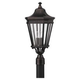 Feiss OL5407GBZ Cotswold Lane - Three Light Outdoor Post Mount