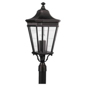 Feiss OL5408GBZ Cotswold Lane - Three Light Outdoor Post Mount