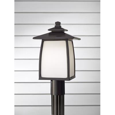 Feiss OL8508ORB Wright House - One Light Outdoor Lantern Post Mount