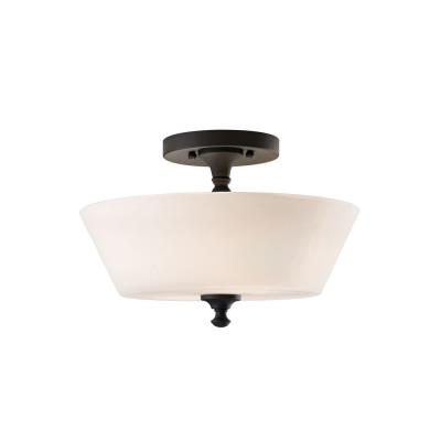 Feiss SF275BK Peyton - Two Light Semi-Flush Mount