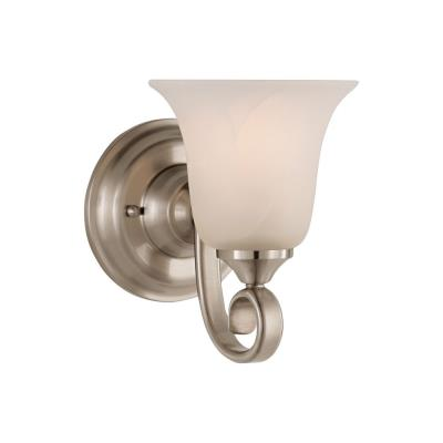 Feiss VS10401-BS Single Vanity Light