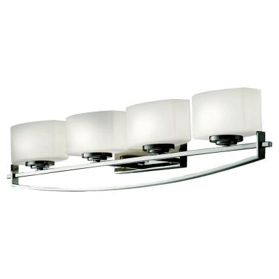 Feiss VS18204-PN Bleeker Street - Four Light Bath Vanity