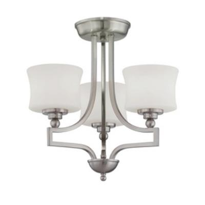 Savoy House 6P-7213-3-SN Terrell - Three Light Semi-Flush Mount