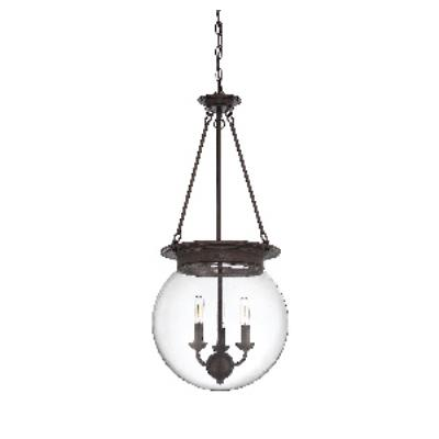 "Savoy House 7-3301-3-28 Glass Orb - Three Light 14"" Pendant"
