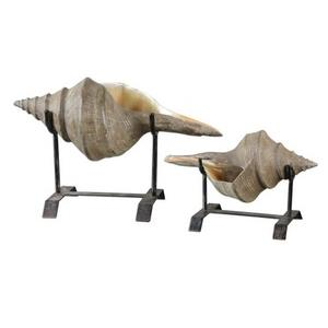 "Conch Shell - 17.75"" Sculpture (Set of 2)"